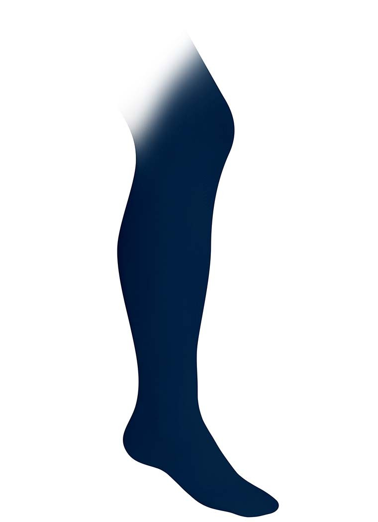 RES Girls' Navy Nylon Tights (Winter Only)