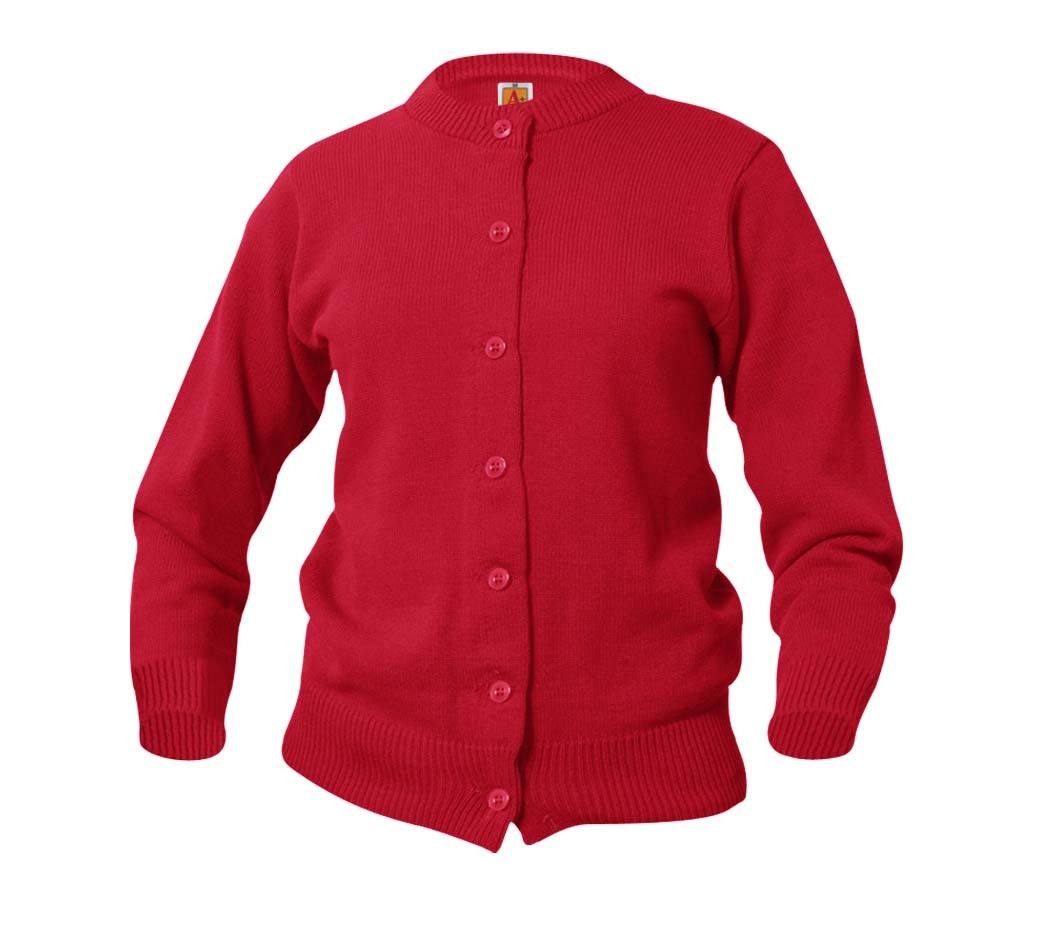 Plain Red Girls' Cardigan