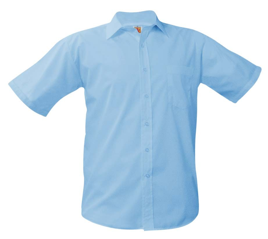 OLV Boys' Light Blue S/S Dress Shirt