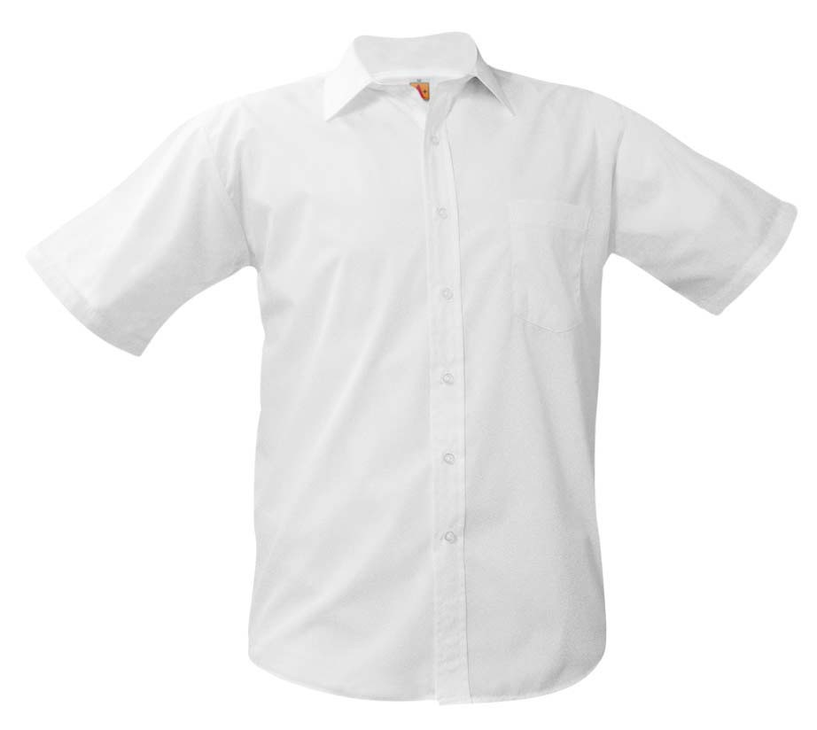 IONA Boys' White S/S Dress Shirt