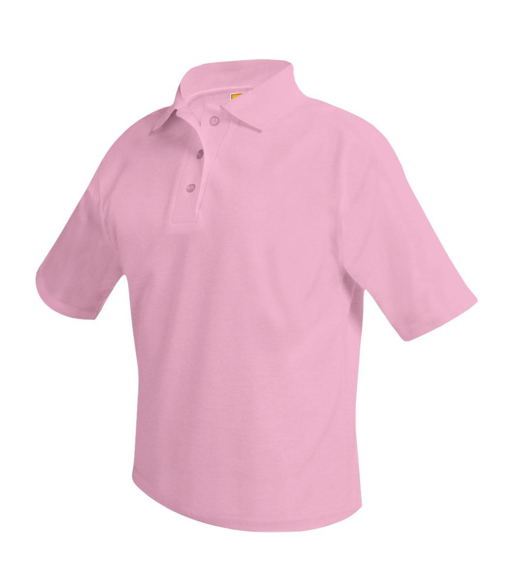MILESTONE Girls' Pink S/S Polo w/ Logo