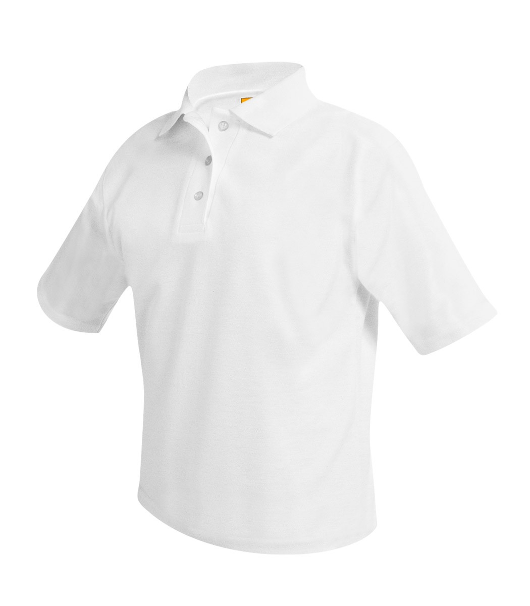 SFA Girls' White S/S Polo w/ Crest Logo