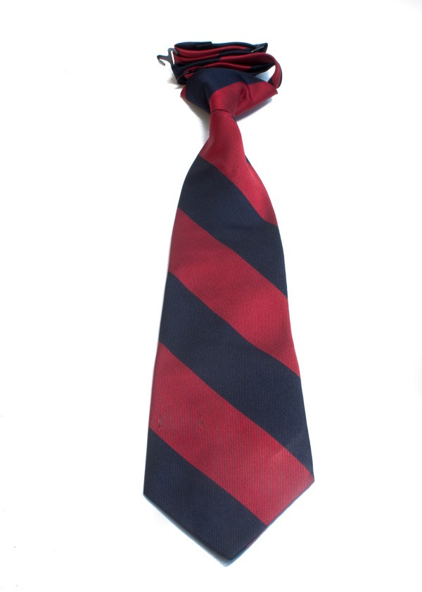Boys' Navy and Red Striped Tie