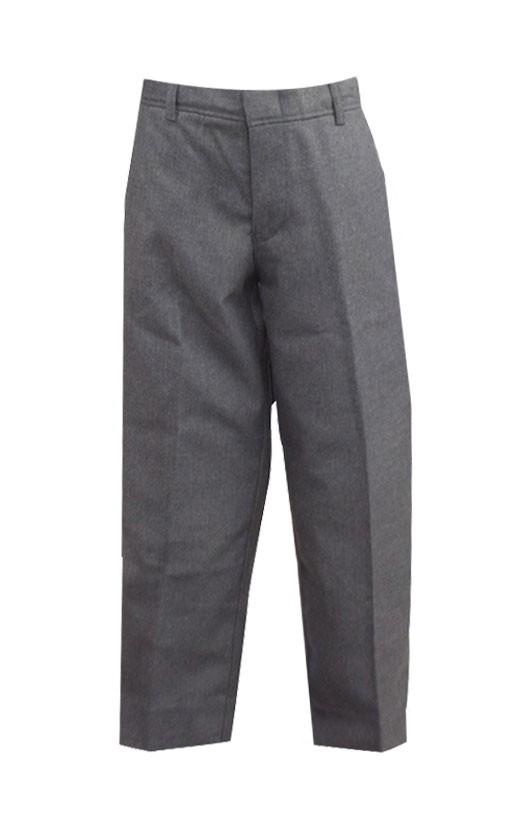Dark Grey Tri-blend Flat Front Pants