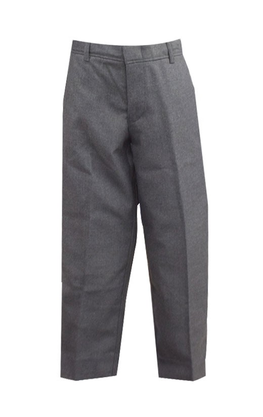 Prep & Men's Dark Grey Tri-blend Flat Front Pants