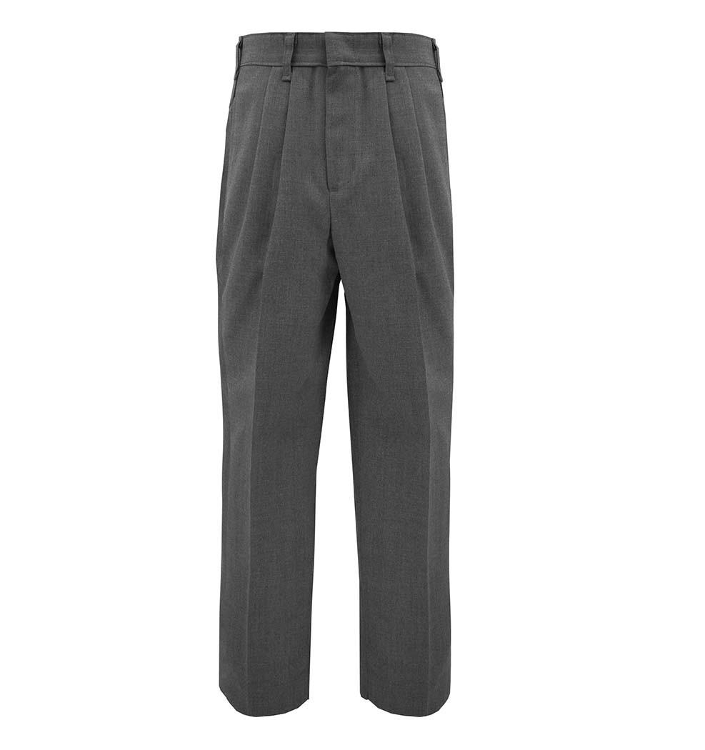RES Prep & Men's Dark Grey Tri-blend Pleated Pants