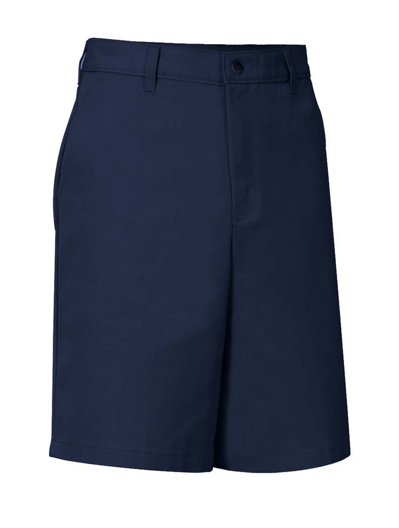 Flat Front Adjustible Waist Navy Dress Shorts