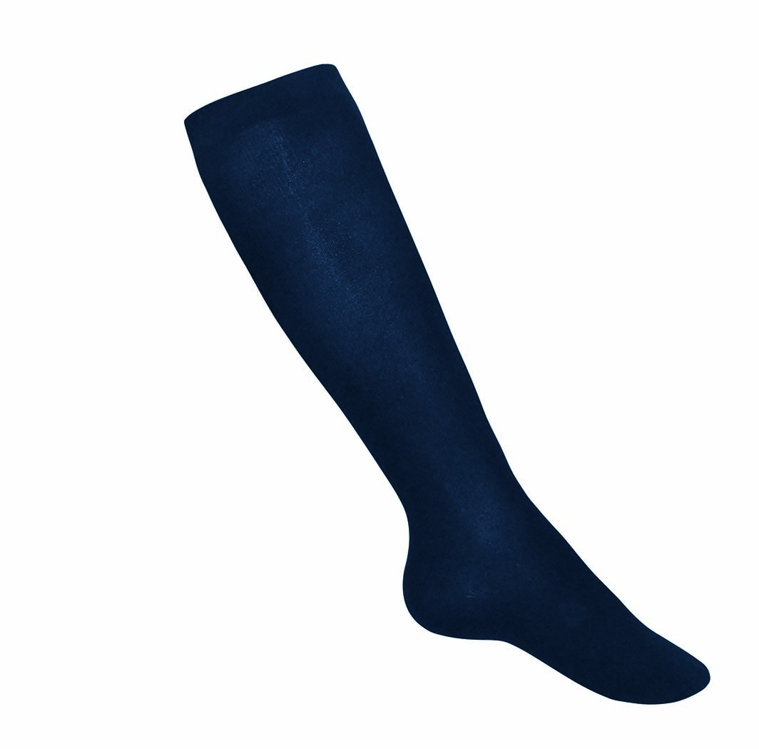 Navy Cotton Knee-Highs