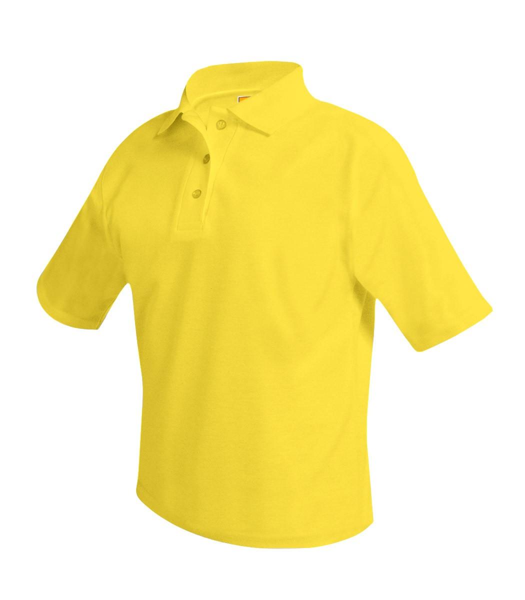 ANN Girls' Plain Yellow S/S Polo - Worn under Jumper Only