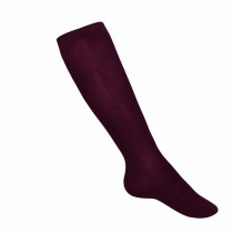Maroon Cable Knee-Highs
