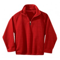 SJP Half Zip Red Micro Fleece w/ Logo (Grades PreK-4)