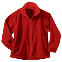 SJP Full Zip Red Micro Fleece w/ Logo (Grades 5-7)