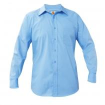 SCS Boys' Light Blue L/S Dress Shirt