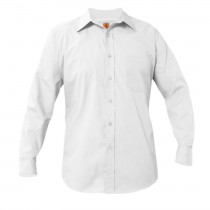 ST. ANN Boys' White L/S Dress Shirt