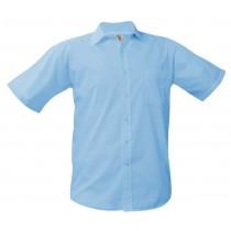 SCS Boys' Light Blue S/S Dress Shirt