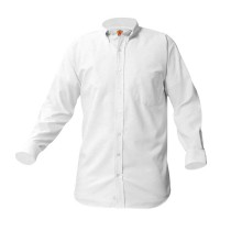 White L/S Oxford Shirt - For Mass Only