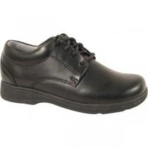 ST. ANN Girls' Black Tie Shoe