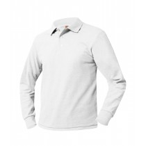 OLV Long Sleeve White Polo w/ Logo