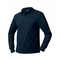 SJP Long Sleeve Dark Navy Polo w/ Logo