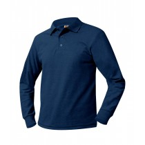 SFA FACULTY STORE Navy L/S Polo w/ Crest Logo