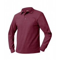 SAS Long Sleeve Maroon Polo w/ Logo