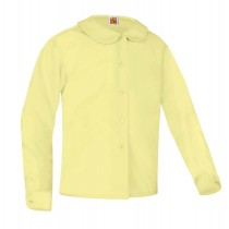 L/S Round Collar Blouse - Available in White, Yellow & Light Blue