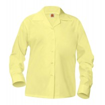 OLV Girls' Yellow L/S Pointed Collar Blouse