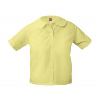 Yellow S/S Round Collar Blouse