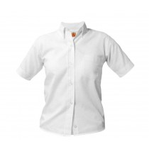 PHS White S/S Oxford Blouse w/ Logo