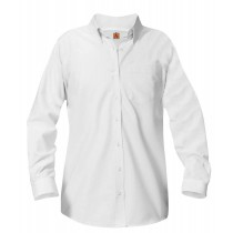 RES Girls' White L/S Oxford Blouse