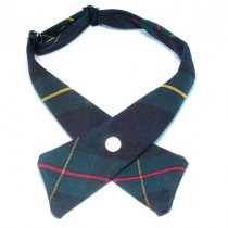 ANN Girls' Plaid Cross Tie