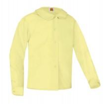 SPA Girls' Yellow L/S Round Collar Blouse