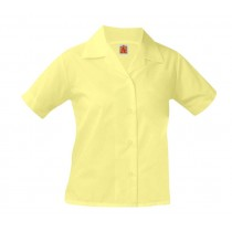 Yellow S/S Pointed Collar Blouse
