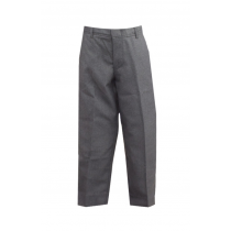 PHS Juniors' Dark Grey Tri-Blend Flat-Front Pants w/ Logo