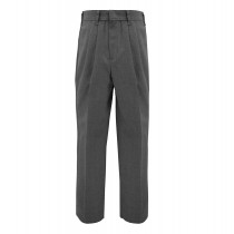 Dark Grey Tri-blend Pleated Pants