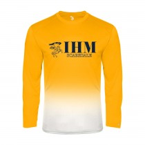 IHM Ombre L/S Spirit T-Shirt w/ Navy Knight Logo - Please Allow 2-3 Weeks for Delivery