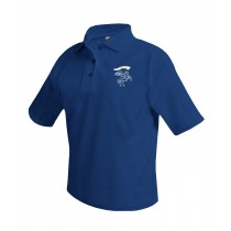 IHM Spirit Navy S/S Polo w/ White Knight Logo - Please Allow 2-3 Weeks for Delivery