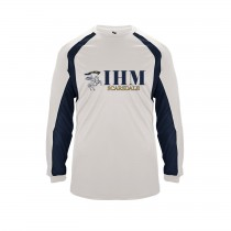 IHM Hook L/S Spirit T-Shirt w/ Navy Knight Logo - Please Allow 2-3 Weeks for Delivery