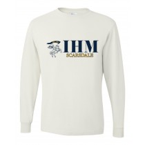 IHM Spirit L/S T-Shirt w/ Navy Knight Logo - Please Allow 2-3 Weeks for Delivery
