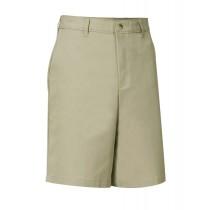 Flat Front Adjustible Waist Khaki Dress Shorts