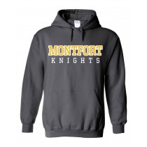 MONTFORT Spirit Hoodie w/ Gold Logo - Please allow 2-3 Weeks for Delivery