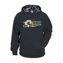 MONTFORT Spirit Digital Color Block Hoodie w/ White Knight Logo - Please Allow 2-3 Weeks for Delivery