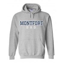 MONTFORT DAD Spirit Hoodie - Please allow 2-3 Weeks for Delivery