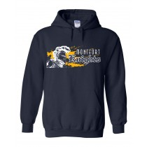 MONTFORT Spirit Hoodie w/ White Knight Logo - Please allow 2-3 Weeks for Delivery