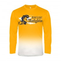 MONTFORT Ombre L/S Spirit T-Shirt w/ Navy Knight Logo - Please Allow 2-3 Weeks for Delivery
