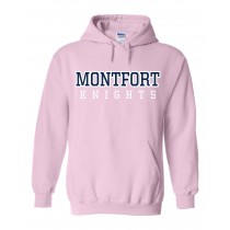 MONTFORT Spirit Hoodie w/ Navy Logo - Please allow 2-3 Weeks for Delivery
