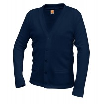 Montfort Navy 2-Pocket Cardigan w/ Logo