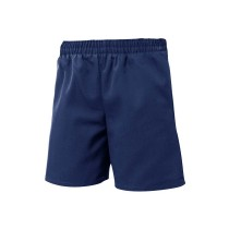 ECM Boys' Pull-On Dark Navy Dress Shorts w/ Logo (Summer Only)