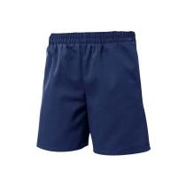 Pull-On Dark Navy Dress Shorts w/ Logo