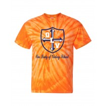 OLV Spirit S/S Tie Dye T-Shirt w/ Navy Logo - Please Allow 2-3 Weeks for Delivery